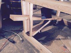 Making a Workbench on Wheels Ideas Making A Workbench, Workbench On Wheels, Workbench Casters, Mobile Workbench, Workbench Plans, Woodworking Workbench, Woodworking Projects, Workbench Designs, Diy Garage Shelves