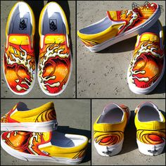 Endless Summer Custom Hand Painted Vans Classic Slip Ons on Chadcantcolorcustoms.com