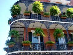 balconies in New Orleans