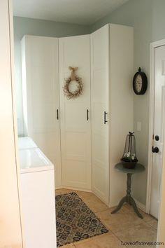 laundry room, mudroom, Ikea Pax system