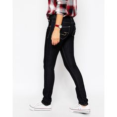 Cross Jeans Melissa Low Rise Dark Wash Skinny Jeans Leg 32 (96 CAD) ❤ liked on Polyvore featuring jeans, blue, skinny jeans, white jeans, tall skinny jeans, dark wash jeans and dark wash skinny jeans