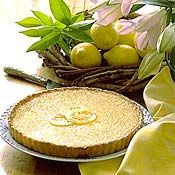 Lemon Tart, Recipe from Cooking.com - Bistro dessert carts regularly feature at least one type of citrus tart. This recipe produces a refreshing creamy and tart lemon custard for filling, and a tender, flaky pastry shell. For a simple variation, lime or orange juice can be used in place of all or some of the lemon juice.