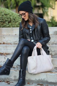 leather. be still my heart.