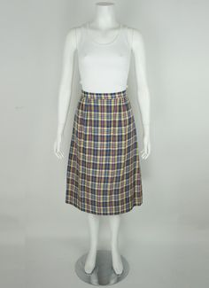 Vintage Plaid Skirt
