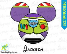 Buzz Lightyear Toy Story Mickey Head Disney Printable Iron On Transfer or Use as Clip Art - DIY Disney Shirt, Family Vacation, Mickey Ears by TheWallabyWay on Etsy
