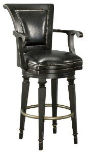 Howard Miller Northport Bar Stool features faux leather seat and wooden backrest. Matches the Northport Bar for home entertaining. Swivel Bar Stools, Bar Chairs, Counter Stools, Bar Counter, Room Chairs, Pub Stools, Dining Chairs, Desk Chairs, Bar Furniture For Sale