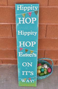 Craft-O-Maniac: ~DIY~ Hippity Hop Colorful Easter Board