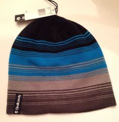 SKULLCANDY-STRIPE-BEANIE-BEENIE-NEW-MENS-MULTICOLOR