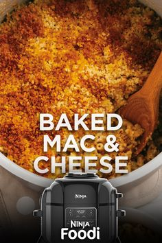 One of the best perks of having a pressure cooker that crisps is that you can pressure cook your pasta and then perfectly crisp your breadcrumb topping all in one pot. Try this recipe in the Crispy Mac And Cheese Recipe, Mac And Cheese Recipe Soul Food, Grilled Mac And Cheese, Bake Mac And Cheese, Mac Cheese Recipes, Juicer Recipes, Blender Recipes, Salad Recipes, Ninja Cooking System