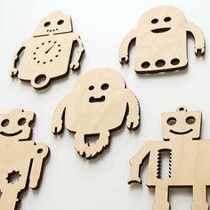 """Imanes para la nevera """"Robot"""" - accesorios y decoración para el hogar - en DaWanda.es"""