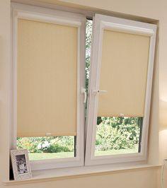 estor enrollable integrado en ventana