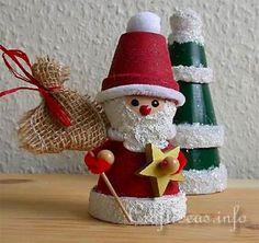 Babbo Natale con vasetti di terracotta: