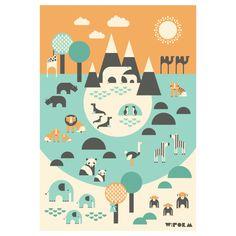 W:form Zoo  - Retro Poster