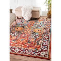Nuloom Traditional Flower Persian Multi Rug 9 X 12