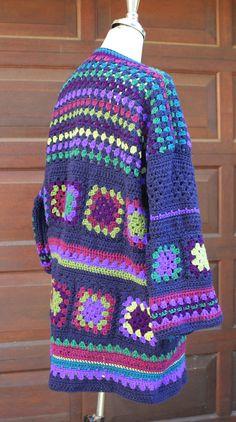 Granny Square coat Granny Square cardigan Crochet jacket