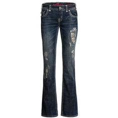 Rock & Roll Cowgirl Heart Peace Jeans - Low Rise, Bootcut (For Women))
