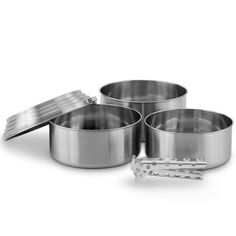 Solo Stove 3 Pot Set - Stainless Steel Camping and Backpacking Cookware Great for Use with Solo Stoves. Lightweight Aluminum Pot Gripper Included. * Be sure to check out this awesome product.