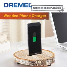 Take your phone charger from a tangled cord to an elegant docking station with this simple Dremel Weekends project: http://bit.ly/1N4vGfq