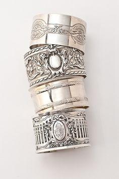 Antique Sterling Napkin Ring Cuffs
