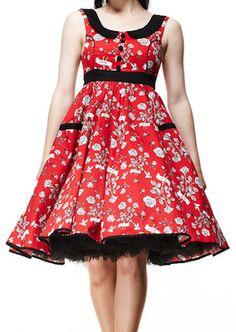 14e24571dd6 Evita Love Style Swing Dress at Retro Vixens Pin Up online shop.