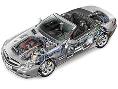 2008-2011 Mercedes-Benz SL 350 Worldwide (R230)  - Illustration unattributed