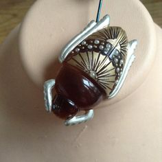 30s bakelite scarab brooch. by PatriciaLouvradoux on Etsy