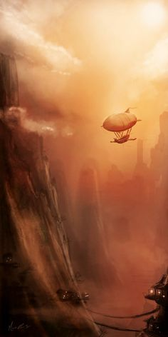Airship city.
