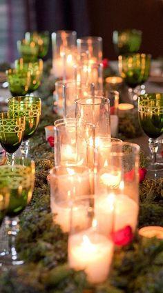 candle lit tablescape....