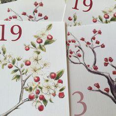 Meseros de árboles, by Silvia Galí Invitaciones. www.silviagali.com
