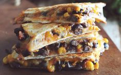 These black bean quesadillas are one of my favorite things to make for lunch! They are quick, simple, and ready in 10 minutes or less! I like to make the filling ahead of time, and cook them up throughout the week, or even better-freeze them so they are ready to cook when I need a quick and healthy meal that is absolutely delicious! You could put your own spin on these quesadillas by adding shredded chicken, or whatever veggie you would like! Enjoy!
