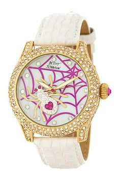 857de7cea Spider Web Motif Dial Watch by Betsey Johnson * Yes! I must have this!