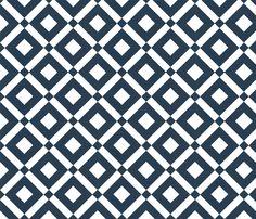 diamond (navy) fabric by thebline_|_abp on Spoonflower - custom fabric