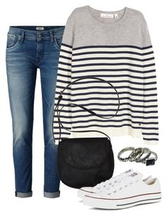 """""""April Afternoon"""" by deliag ❤ liked on Polyvore featuring H&M, Billabong and Converse"""