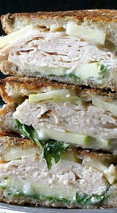 Turkey Apple Brie Panini with Honey Mustard Maple Mayonnaise (gf bread)