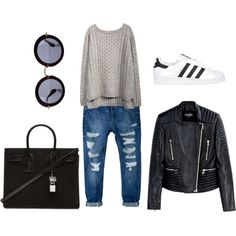 Twilight Woods by zoefashionsite on Polyvore featuring polyvore, fashion, style, Balmain, MANGO, adidas Originals, Yves Saint Laurent and Miu Miu
