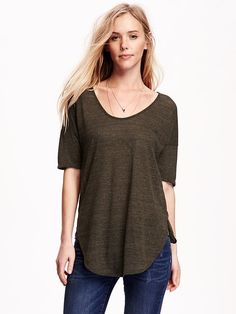 Relaxed Tunic Tee for Women Product Image