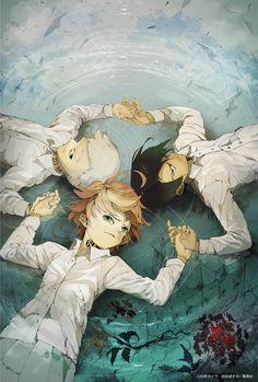 The Promised Neverland 約束のネバーランド (Yakusoku no Neverland) Main trio Emma Ray Norman Film Animation Japonais, Manga Anime, Anime Art, Anime Triste, Anime Reviews, Manga Covers, Fan Art, Animes Wallpapers, Anime Shows
