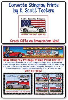 Corvette History, 2013 Corvette, Stamp Printing, Automotive Art, Corvettes, Models, Amazon, Search, Coloring