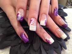 Freehand one stroke nail art  takes you to a spam site but good picture...