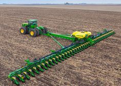 When the was introduced, it immediately made headlines across the farming community as it became Deere's largest planter ever. However, this planter has even more to offer crop producers than initially meets the eye. Read this post to learn more! Old Farm Equipment, John Deere Equipment, Heavy Equipment, Running Equipment, Jd Tractors, John Deere Tractors, John Deere Combine, Tractor Accessories, Modern Agriculture
