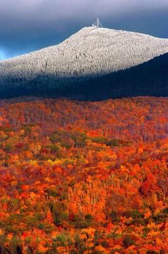 A wonderful fall foliage season is peaking this weekend in a large part of New England. The fall colors are vibrant in the lower elevations of Northern New England as well as most of Southern New E… Beautiful World, Beautiful Places, New England States, Mount Washington, Autumn Scenes, Destination Voyage, All Nature, Fall Pictures, Green Mountain