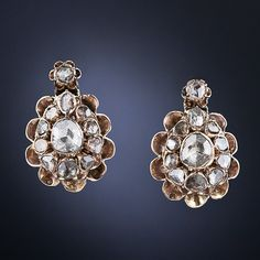 Antique Rose-Cut Diamond Earrings - 20-1-5010 - Lang Antiques  I'd try them on.