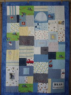 CUSTOM ORDERS -  Patchwork quilt made from baby clothes via Etsy