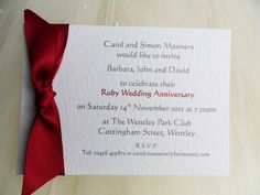 Single Sided Postcard Wedding Anniversary Invitations From Each