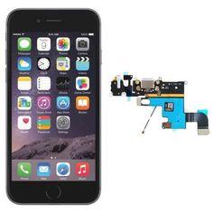 Cambiar Conector de Carga Jack + Micrófono del iPhone 6  - iPhone 6 (Apple). Si compraste el nuevo iPhone 6 y no te funciona el conector de carga jack y el micrófono, solo tienes que solicitarlo en www.