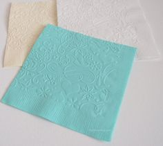 Embossed Cocktail Napkins Beverage