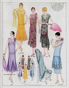 1000 images about 1920 39 s fashion plates on pinterest for Miroir des modes prints
