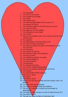 love reasons