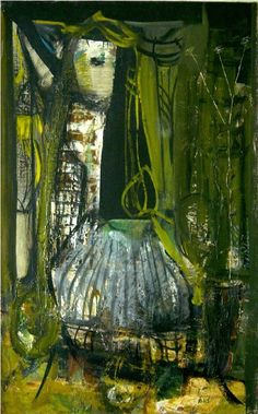 PETER LANYON - JUDY, 1954  oil on board  27 x 16 1/2 inches  68.6 x 41.9 cm