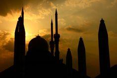 #buildings #indonesia #mosque #semarang #silhouette #sunset